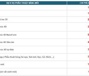 Chi phí phẫu thuật nâng mũi hết bao nhiêu tại Bệnh viện Thẩm mỹ KANGNAM?