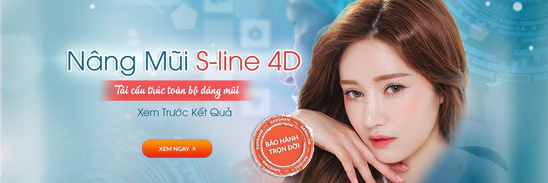 Công nghệ nâng mũi S-line 4D tiên tiến tại Kangnam