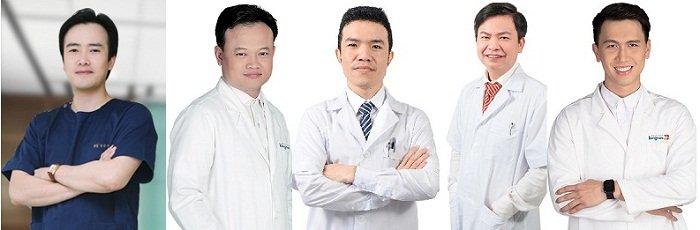 Đội ngũ bác sĩ nâng mũi Hàn Quốc
