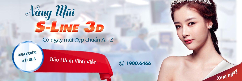 phẫu thuật nâng mũi s line 3D