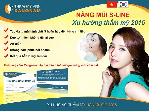 Nâng mũi Sline Kangnam đẹp như sao Hàn