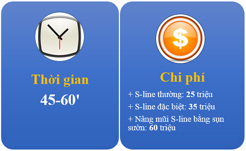 Thời gian và chi phí nâng mũi s line